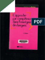 Approche Par Competences Dans L'enseignement Des Langues