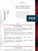 Principles of cGMP in Pharmaceutical Industries