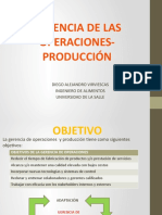 PRESENTACION GERENCIA DE LAS OPERACIONES PRODUCCION