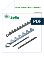 Complete knife Stella for Combine