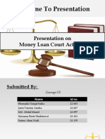 Money Loan Court Act