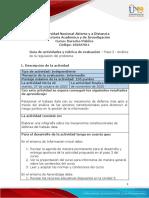 Guía de actividades y rúbrica de evaluación - Unidad 3 - Paso 3 - Análisis de la regulación del problema