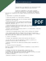 Liste des et précautions à adopter par tous les établissements relevant du ministère de