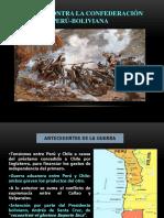 La Guerra Contra La Confederación Peru Boliviana