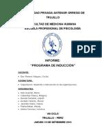 Informe N°4 - Programa de inducción