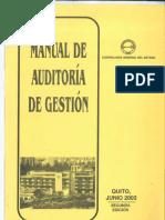 MANUAL Y EXPERIENCIAS DE AUDITORIA DE GESTION DE LA CONTRALORIA DE ECUADOR