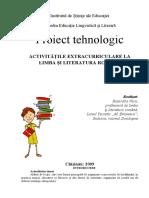 Proiect tehnologic_Activitate extracurriculara.doc