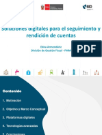 Soluciones digitales para el seguimiento y rendiciones de cuentas