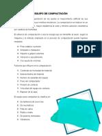 EQUIPO DE COMPACTACIÓN