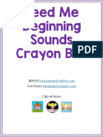Feed Me Beginning Sounds Crayon Box