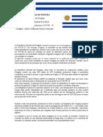 DOCUMENTO DE POSTURA URUGUAY/ INESTABILIDAD SANITARIA POR COVID-19 EN URUGUAY