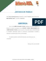 CONSTACIA DE TRABAJO