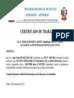MUNICIPALIDAD DISTRITAL DE TINTAY