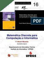 Matemática discreta para computação e informática Cap. 1