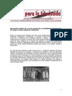 REFLEXIÓN ACERCA DE LA EVALUACIÓN EN LA ENSEÑANZA PROFESIONAL