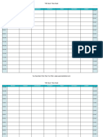 Time Tracking Sheet