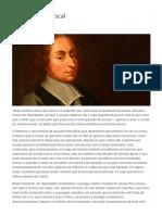 A aposta de Pascal - Estado da Arte