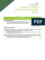 DESARROLLO TEMÁTICO Técnicas de Producción de Medios Impresos
