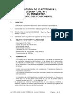 LAB 7 ELECTRÓNICA 1.- EL TRANSISTOR. (1)