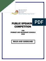 PUBLIC SPEAKING COMPETITION CONCEPT PAPER