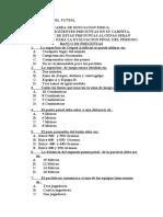 CUESTIONARIO DEL FUTSAL