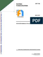 NTF 758 2015. Estación Manual de Alarma