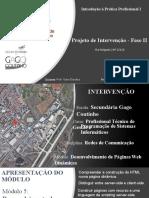 Projeto de Intervenção - Fase II- apresentação
