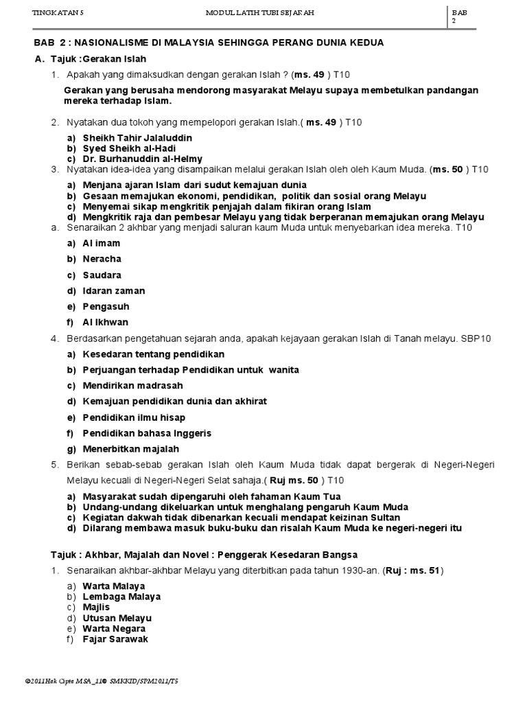 Nota Spm Sejarah Tingkatan 5 Spm Free Spm Tips 2020 By Student Malaysia Education Forum