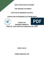 CARACTERISTICAS GENERALES DEL AGUA INGENIERÍA AMBIENTAL