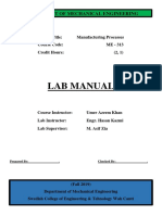 LAB Manual Manufacturing Process I