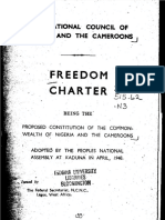 The National Council of Nigeria and the Cameroons - Freedom Charter