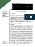 Faith and Religious Truth