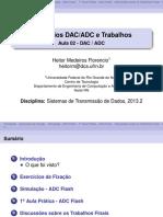 Exercícios DAC_ADC e Trabalhos