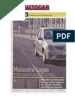 Autocar Mahindra Logan