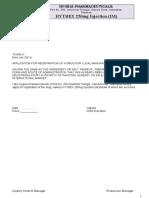 Ceftrioxne Injection 250 Dossior