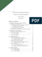 gestion de risque financier exercice de programation