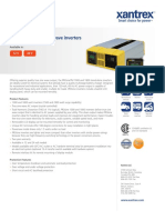 Datasheet Inversor Xantrex PROsine