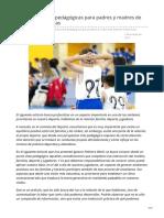 Consideraciones pedagógicas para padres y madres de jóvenes deportistas