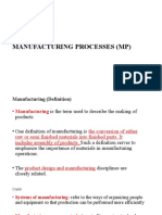 Lecture#1,2 Intoduction to  Manufacturing processes [Autosaved]