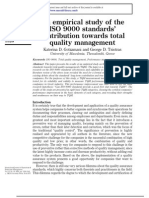 an imparical study of the iso 9000 standards contribution towards total quality management