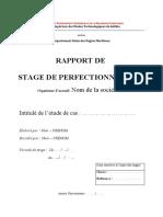 Modele rapport de satge perfectionnement