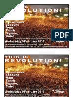Egypt revolution eyewitness report – 9 February