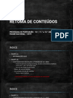 RETOMA DE CONTEÈDOS