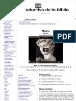 40 Mateo - Estudio Inductivo de la Biblia