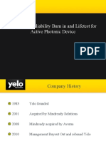 Yelo Laser Diode Reliability Burn in and Lifetest for Photonic Devices powerpoint