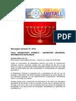 MENSAGEM 79 2018 RADIESTESIA CÓSMICA - GEOMETRIA UNIVERSAL - MOVIMENTOS RETILINEOS PF