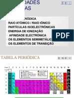 Propriedades Tabela Periódica