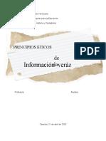 Principios éticos de la Información veráz