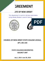 Adjunct Faculty Agreement 2015 - 2019