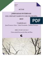 Actas de las Jornadas Internas del Departamento de Filosofia UNMdP 2019